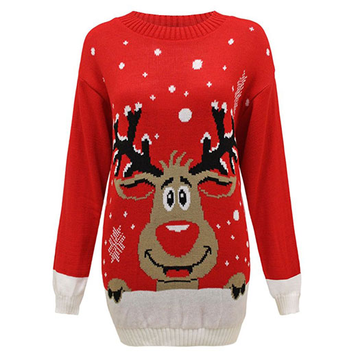 Ladies Reindeer Jumper